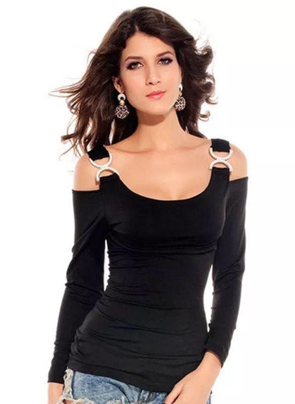 Sexy Y Elegante Blusa, Casual, Fiesta, Tirantes, Larga 2275 - $ 555.39 en Mercado Libre