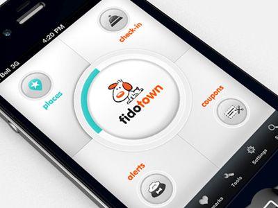 Fidotown Home Screen UI Design