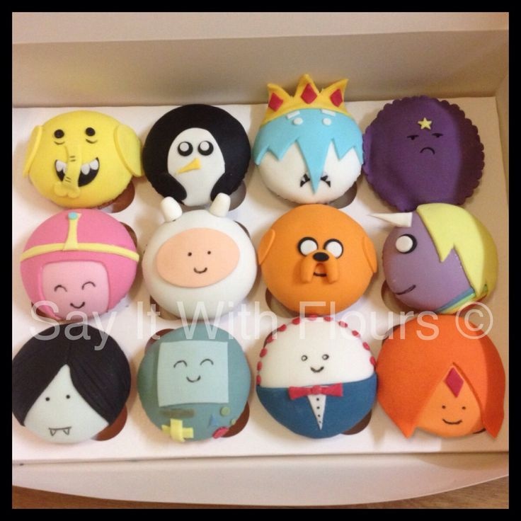 Adventure Time cupcakes. Math!
