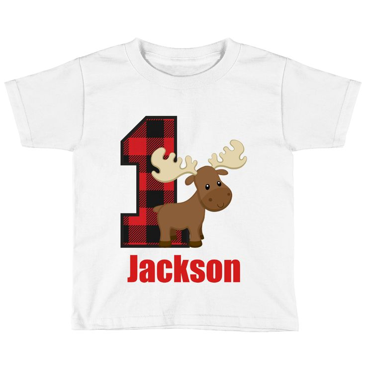 Baby Boys 1st Lumberjack Birthday Party Outfit Moose