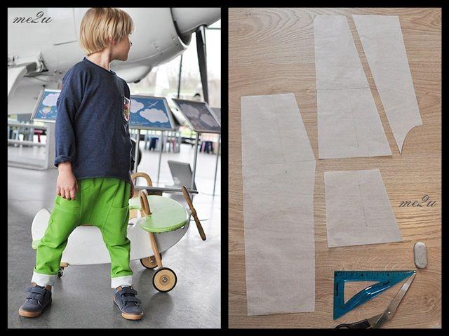 Wykrój na baggy z kieszeniami z przodu/ baggy trousers pattern