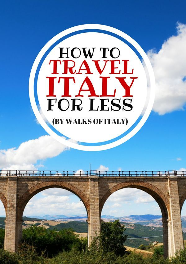 Seeing sites like the ancient aqueducts of Italy does not have to break the…