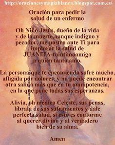 Oracion y fotografia por LA SALUD DE UN ENFERMO