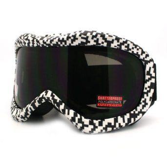 da38e0f7b604 Ski Snowboard Goggles Anti Fog Shatter Proof Lens Digital Pixel Print