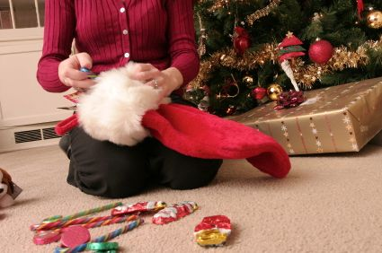 How to Stuff a Stocking the Fun Way - I didn't know there was a fun way but this post has me convinced :)