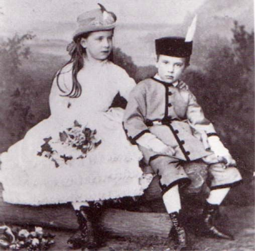 Gisela and her younger brother Rudolf