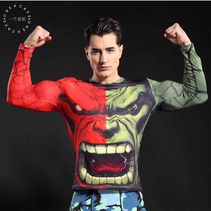 S.B.KENI compression shirt batman and superman 3 d printing T-shirt men long sleeve Cosplay men long sleeve T-shirt #Affiliate