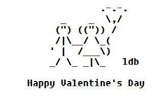 valentine ascii art