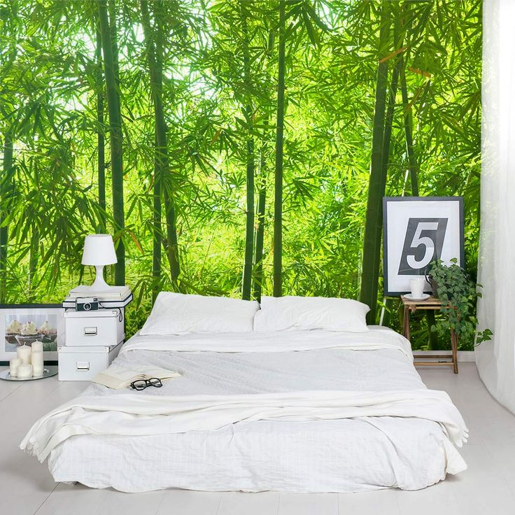 The 25 best bamboo wallpaper ideas on pinterest bedroom for Bamboo forest mural