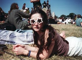 Glastonbury 1995 90's stone circle. Festival safety for teens