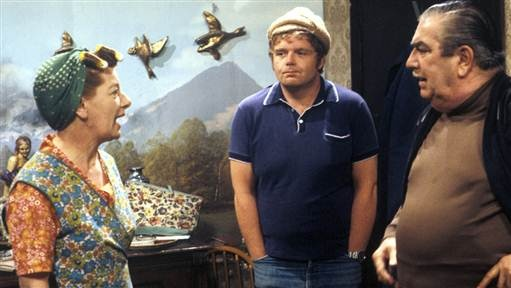 Hilda . Eddie . Stan and Hildas ducks. Coronation Street