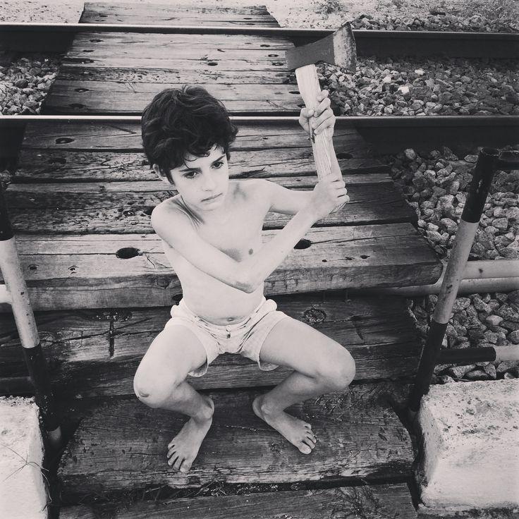 Maximo boy with the axe