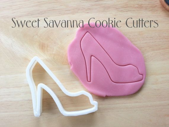 Peeptoe  High heel Cookie Cutter by SweetSavannaCookies on Etsy