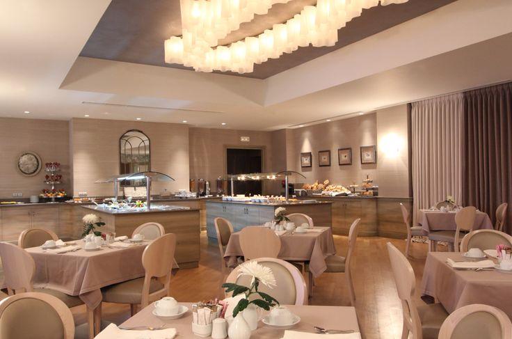 "5 star hotel ""du lac"" / Ioannina - Greece / breakfast restaurant  / interior designer Sissy Raptopoulou"