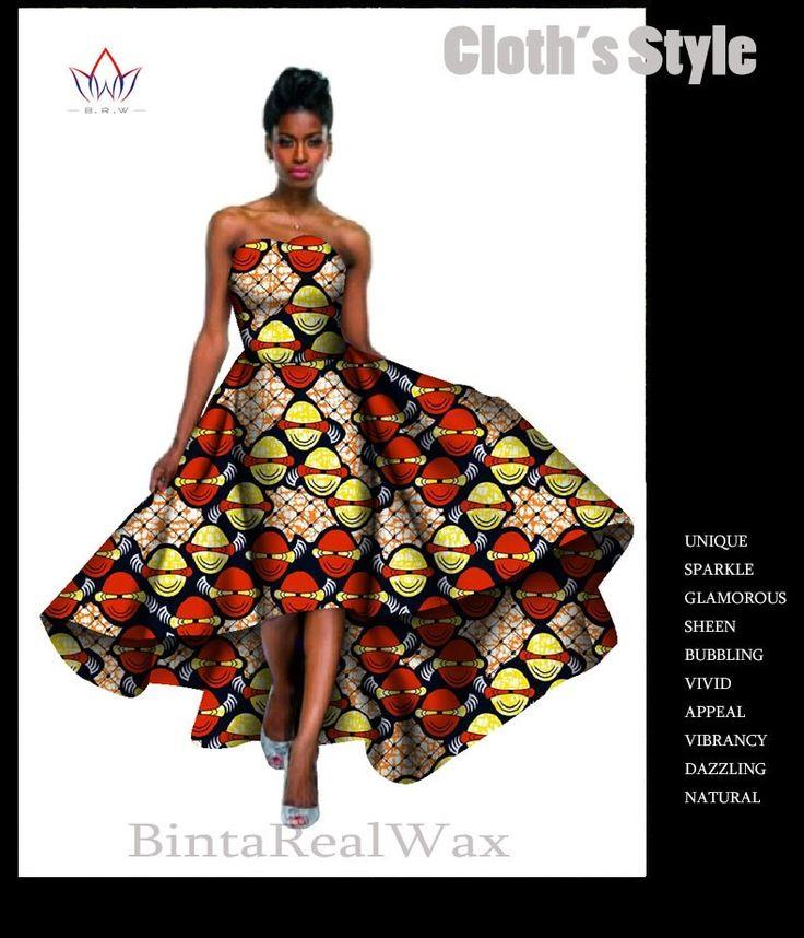 BRW Африканских Базен Riche Воск Печати Платья для Женщин 2016 мода Дизайн Плюс Размер 6xl Африке Стиль Пользовательского Vestidos Mujer WY598 купить на AliExpress