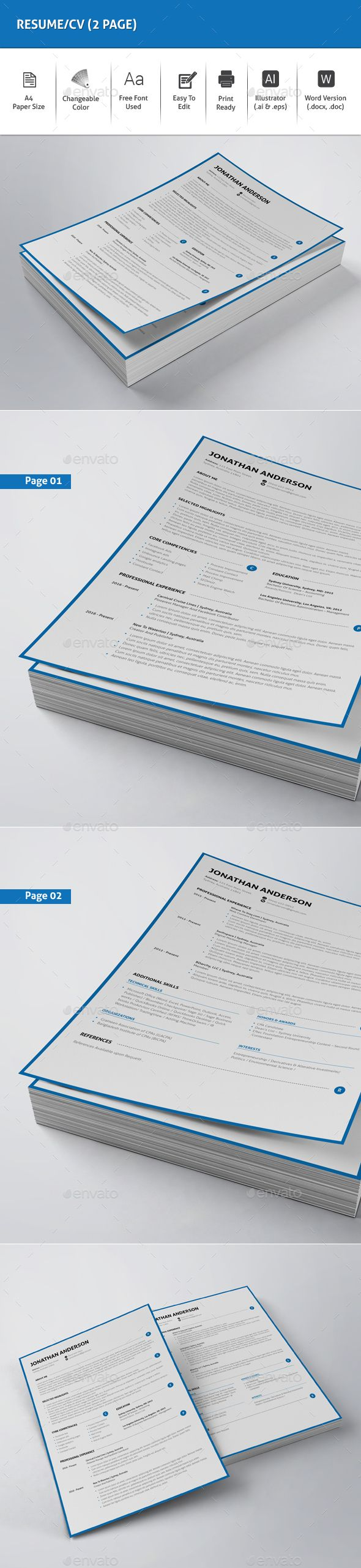 277 Best Resume Images On Pinterest Resume Templates Font Logo