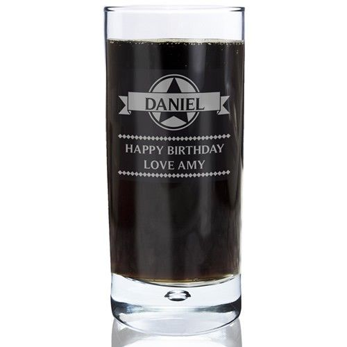 Personalised Diamond Hi Ball Bubble Glass  from Personalised Gifts Shop - ONLY £14.99