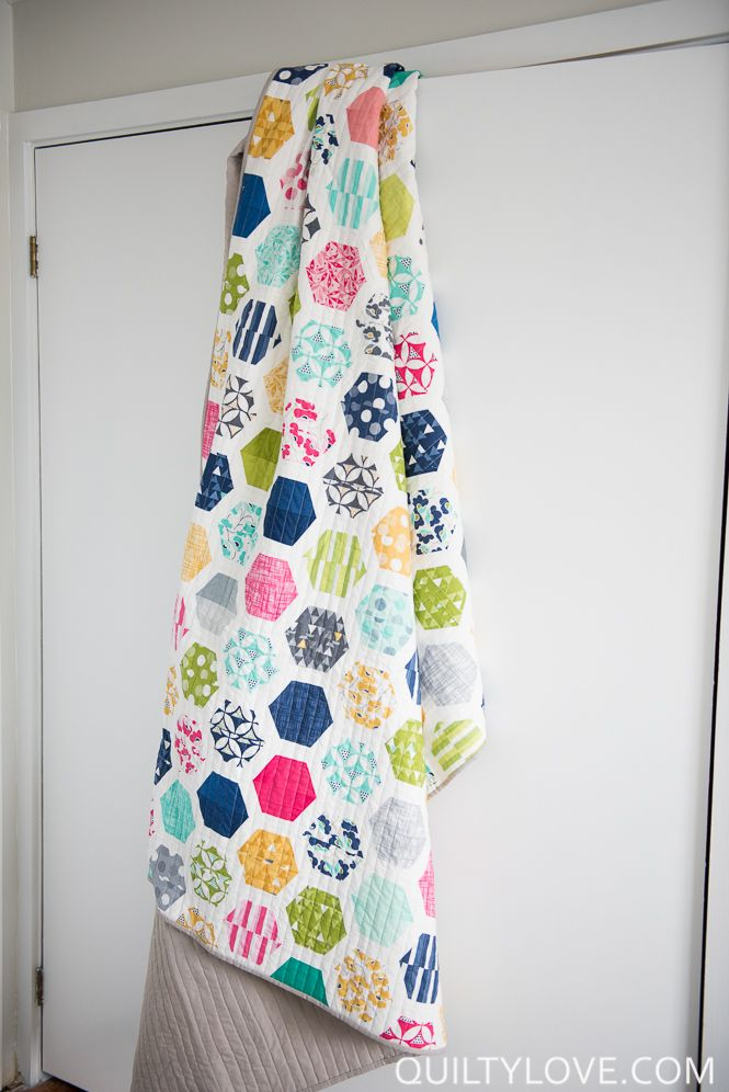 I'm super excited to introduce my first quilt pattern! A fun jelly roll friendly Hexie Quilt :)Hexagons are super popular right now in quilts and this is a fun twist to the classic Hexie quilt. …