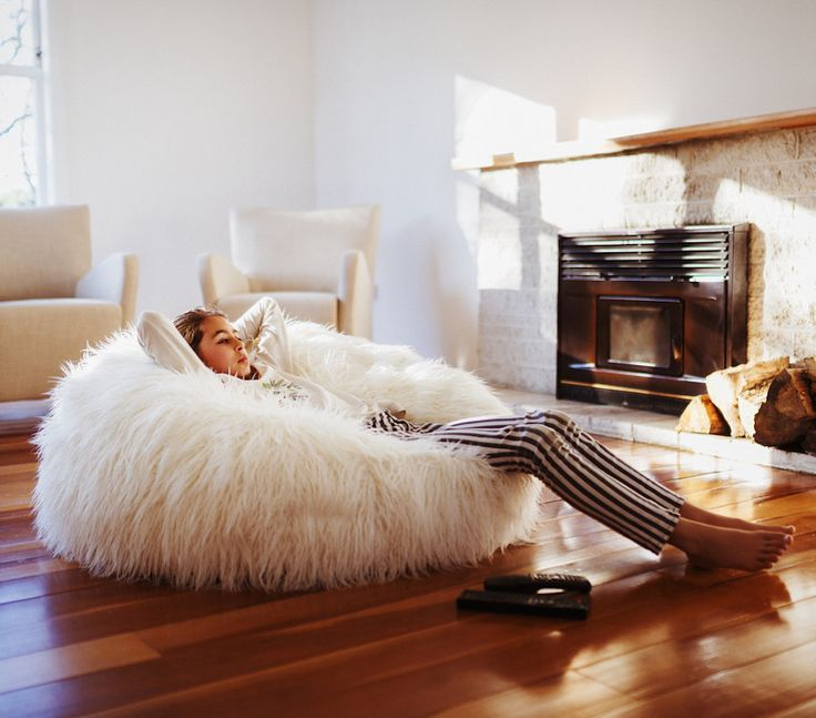 If you are you looking for something luxurious for your home, check out the carry ultra-soft white faux furry bean bags at Bean Bags R Us.