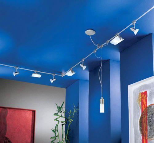 Seilsystem Deckenleuchte 7m Hochvolt Schienensystem Deckenlampe LED Mglich
