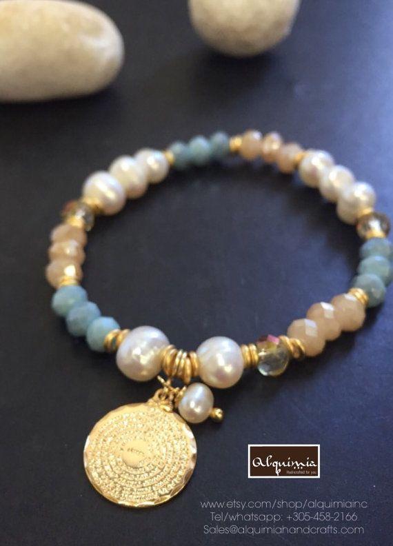 Cristales y pulseras de goldfilled 18 k AP1123 con mini