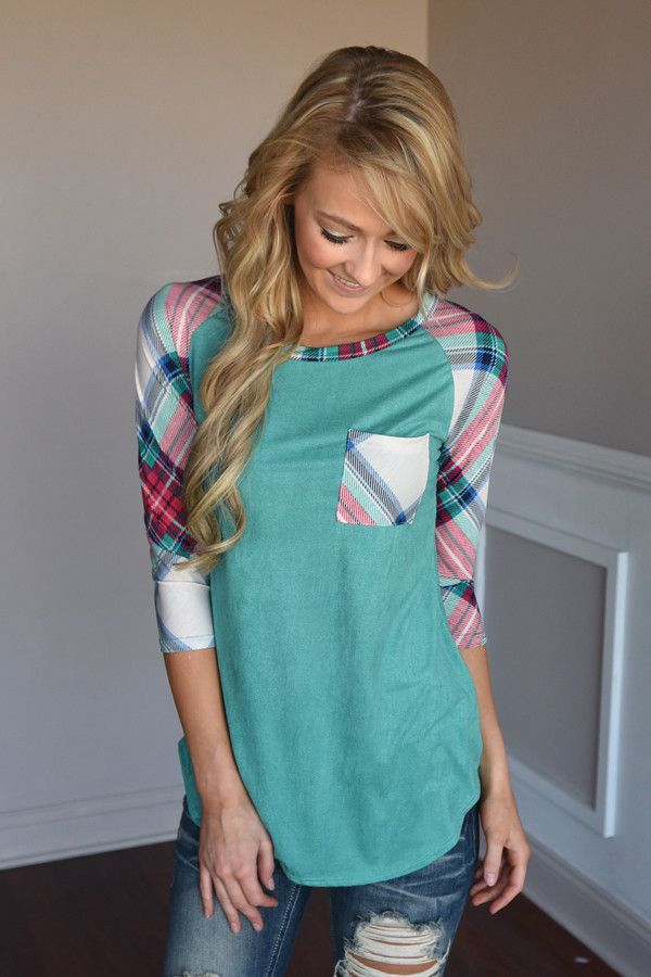 Punch Line Top ~ Teal – The Pulse Boutique
