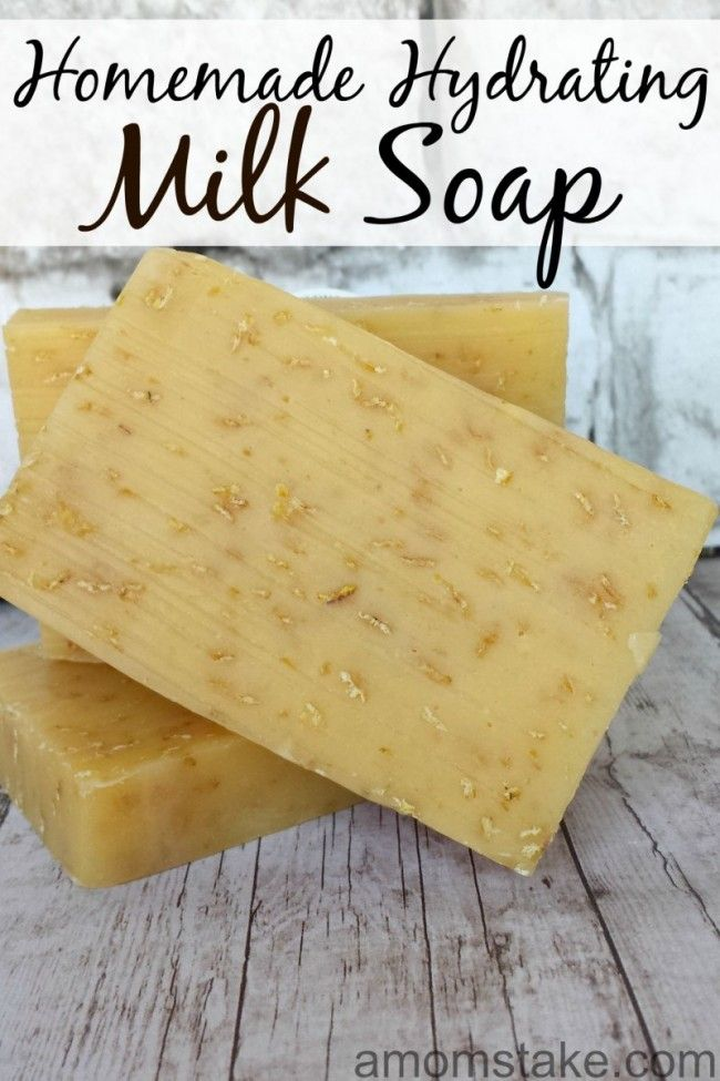 Making soap can be fun and easy! Check out this totally unique homemade soap that is made with cows milk! Add oats for texture, if desired.