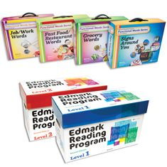 Edmark Reading Program: Levels 1 and 2 – Second Edition, Print Version and Edmark Functional Words Series – Second Edition COMBO