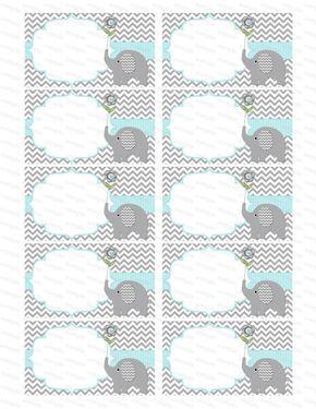 Insertar espacio en blanco para muchacho bebé ducha invitación gracias notas pañal rifa elefante bebé ducha muchacho bebé ducha (90b2b) descarga inmediata