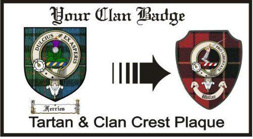 Ferries Clan Fergusson Clan Badge Plaque . $29.99