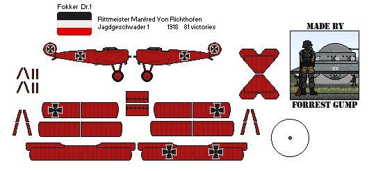Fokker DR1 Red Baron by Comradesoldat