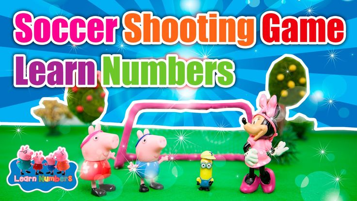 HD Numbers Song For Children - Play Gumball Soccer with Peppa Pig Свинка...