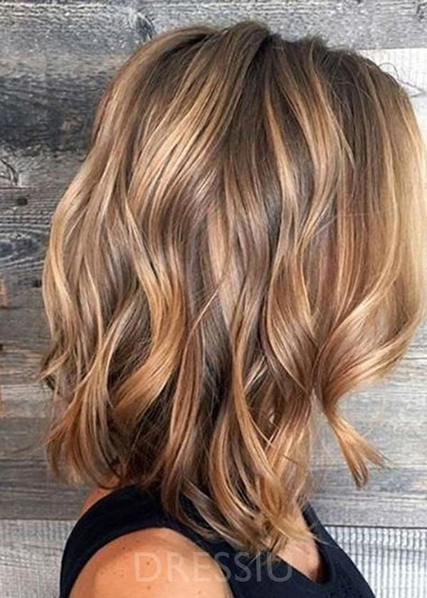 Shoulder Length Loose Wavy Synthetic Hair Capless +#Capless #dressiu #Hair #inches #Length #loose