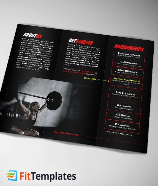 48 best Fitness Flyer Ideas images on Pinterest Fitness flyer - Gym Brochure Templates