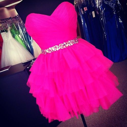 25  best ideas about Neon pink dresses on Pinterest | Pink dress ...