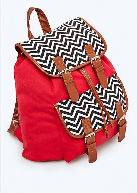 Red & Chevron Backpack | Backpacks | rue21