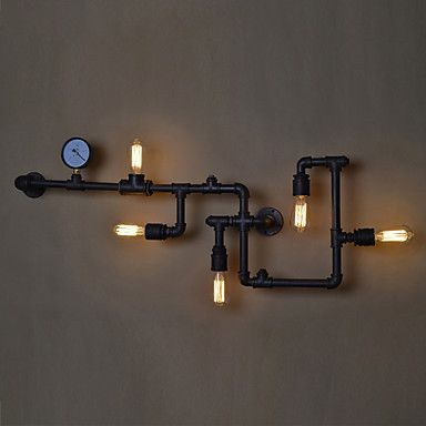 Loft Industrial Wall Lamps Antique Edison Wall Lights With Bulbs E26/E27  Vintage Pipe Wall Lamp For Living Room Lighting Part 73