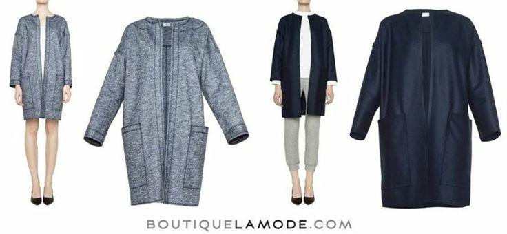 Geometryczny, wełniany płaszcz marki Just Paul to nasz wybór na coraz cieplejsze, wiosenne dni. Który kolor wybieracie - melanż czy granat?  #nacomaszochote http://boutiquelamode.com