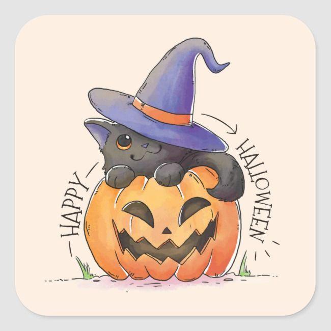 Download Halloween Cute Black Cat Wallpaper 4838 Full Size