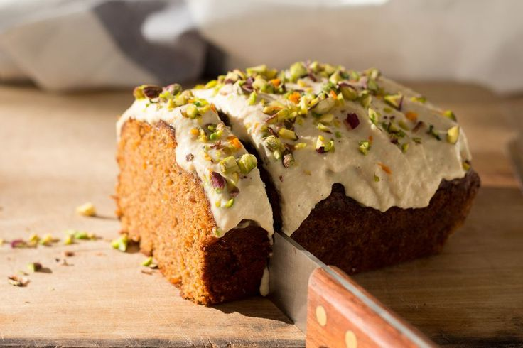 Vegan carrot cake with delicate frosting - Lazy Cat Kitchen