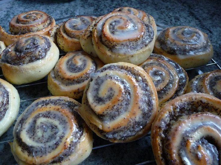 Quark-Mohnschnecken - Glutenfrei Backen und Kochen bei Zöliakie. Glutenfreie Rezepte, laktosefreie Rezepte, glutenfreies Brot