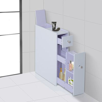 Bathroom Floor Cabinet Shelf Storage Organizer Stand Furniture With Wheels White  Canada online at SHOP.CA - 3534969.This exquisite bathroom cabinet is to help you save the space and neaten your rooms. The portable slide-out floor cabinet comes from HomCom. It's freestanding and small enough to fit in almost anywhere where cabinets or shelves might be impossible or impractical and will keep all of your bathroom accessories neatened but still within reach. It's perfect for ...