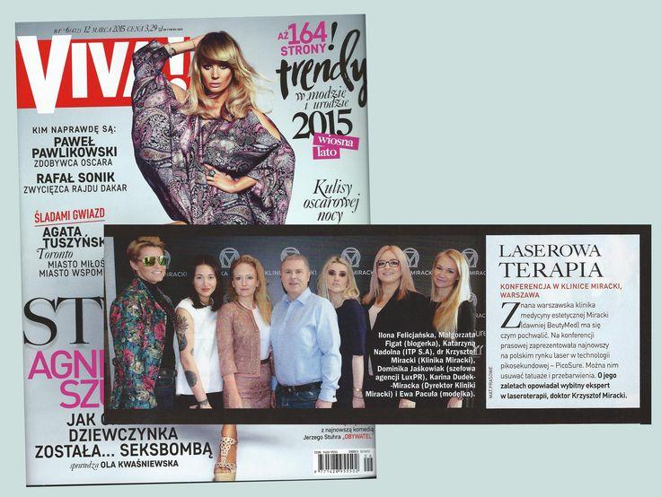 Magazyn Viva! pisze o naszej konferencji PicoSure! Tekst znajdziesz w 6 numerze dwutygodnika (2015r.) :)