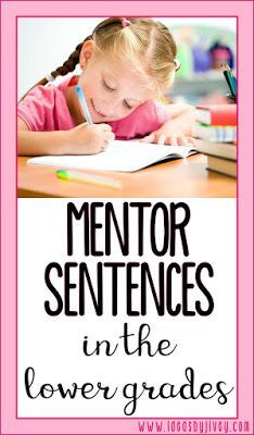 Ideas by Jivey walks you through the steps of how to do mentor sentences in the lower grades to improve writing and grammar.
