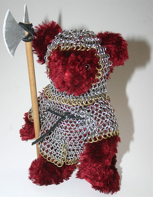 Cinnamon the Battle Bear by herufeanor, via Flickr - my ten year old son loves this lol
