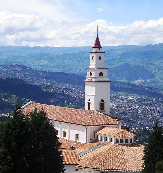 Monserrate, a beautiful church on top of a mountain overlooking Bogota