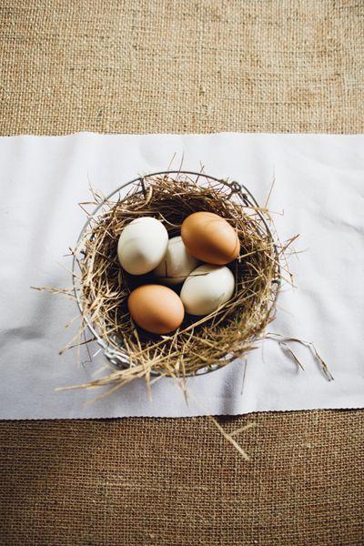 egg centerpieces | Mark Elkins #wedding