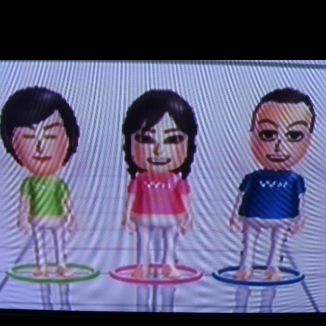 My Wii fit family :)