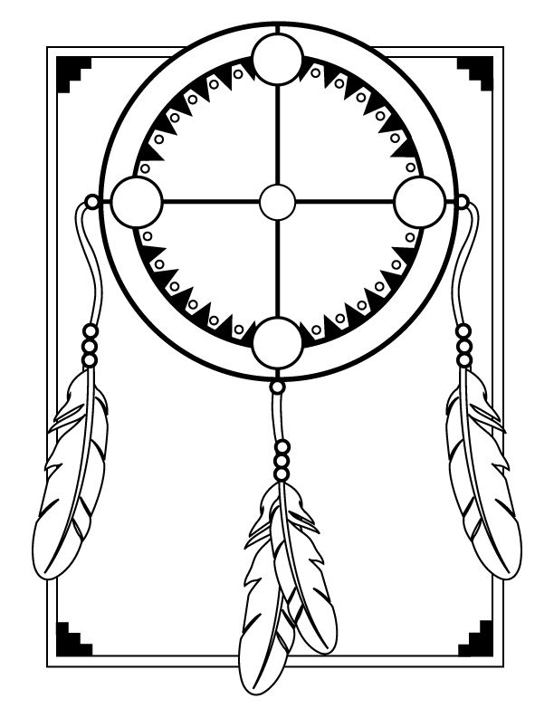 Medicine wheel template