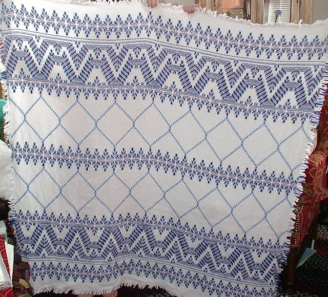 Swedish Weaving or Huck Embroidery